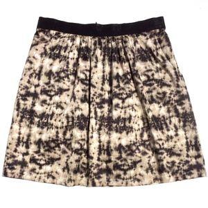 Ann Taylor Petites Skirt Size 8P black tan print